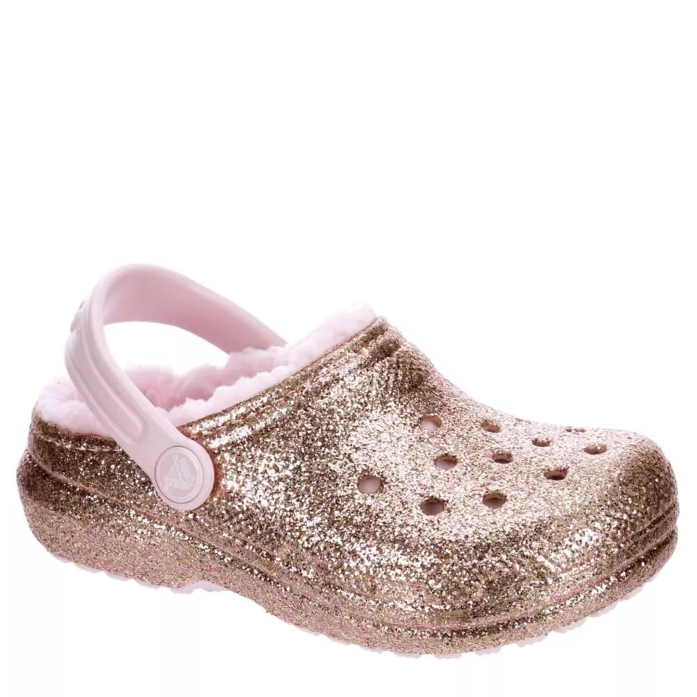 rose gold crocs girls classic lined clog