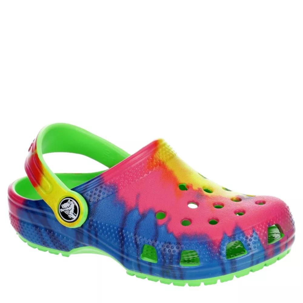 tie dye crocs girls classic clog