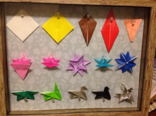Origami folding steps for a pegasus