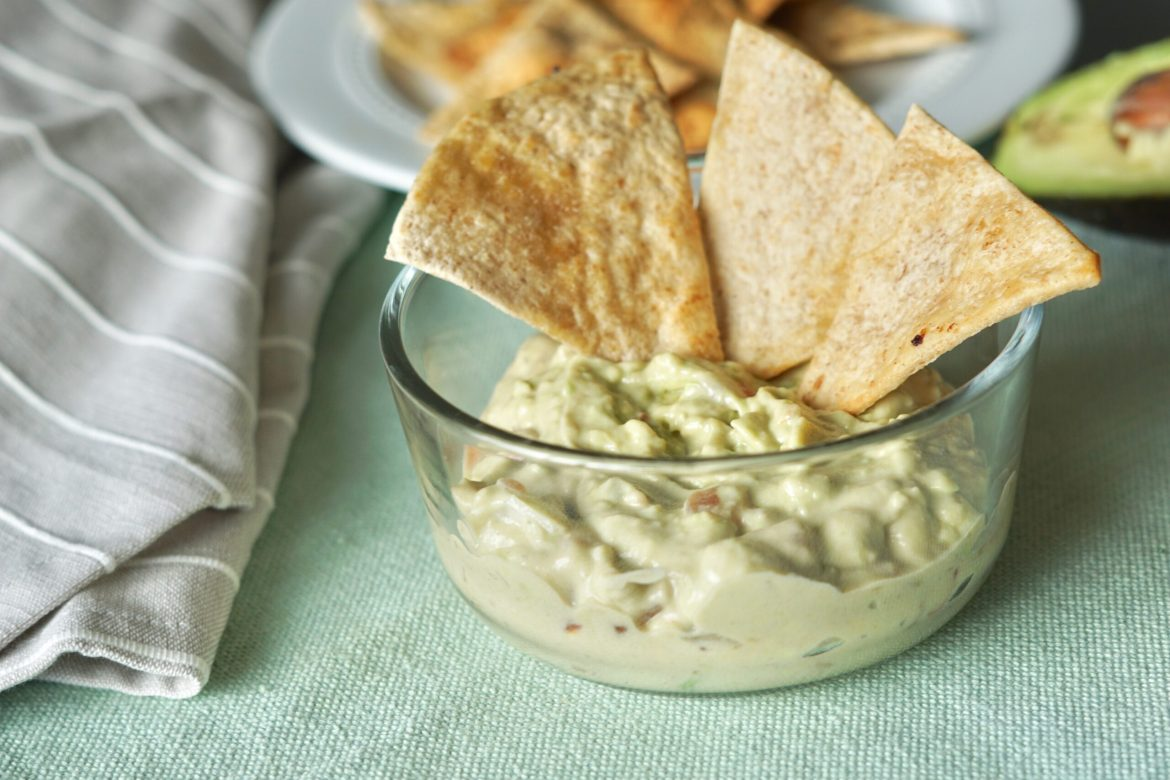 Deidra Mangus, healthy guacamole dip, easy healthy party dishes, healthy snack ideas, avocado dip, roma tomato, cilantro, lime juice, greek yogurt, successful online fitness coach, healthy weight loss snacks, post partum weight loss, healthy military family