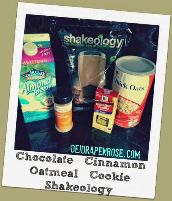 Deidra Penrose, Shakeology recipes, chocolate shakeology recipes, team beachbody recipes, top fitness coach, successful beachbody coach, clean eating recipes, healthy dessert recipes, healthy shakeology recipes, healthy oatmeal cookie recipes, cinnamon oatmeal cookie recipes, almond milk recipes, oatmeal cookie healthy recipes, weight loss recipes, fitness motivation, 21 day fix recipes, piyo recipes