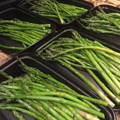 clean eating meal prep, asparagus