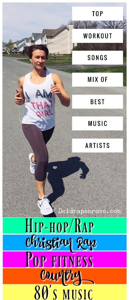 Workout Playlist- Best Mix of Music Artists/Genres - Deidra