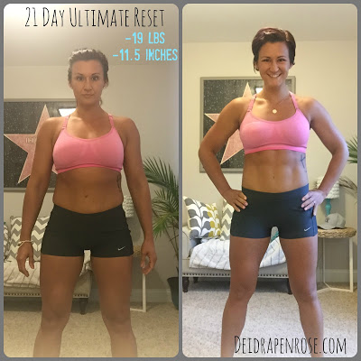 Deidra Penrose,  Elite Beachbody coach, top online fitness coach, 21 day cleanse, 21 day ultimate reset results, ultimate reset beachbody transformation, clean eating tips, fitness motivation, weight loss journey, lose 15 pounds in 21 days, beachbody success story, detox, healthy eating recipes, accountability, meal planning, meal prepping, fitness challenge, online fitness support group, emotional eating, water retention, how to meal prep when traveling, healthy eating on vacation, 21 day fix extreme meal plan, before and after pics, fitness transformation, ultimate reset transformation