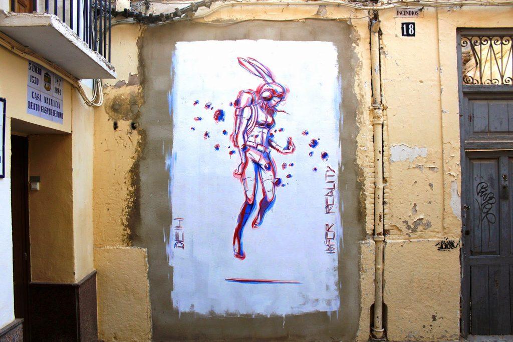 Cyberpunk glitch futuristic graffiti by Deih XLF