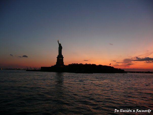 Atardecer en Nueva York, Estados Unidos.