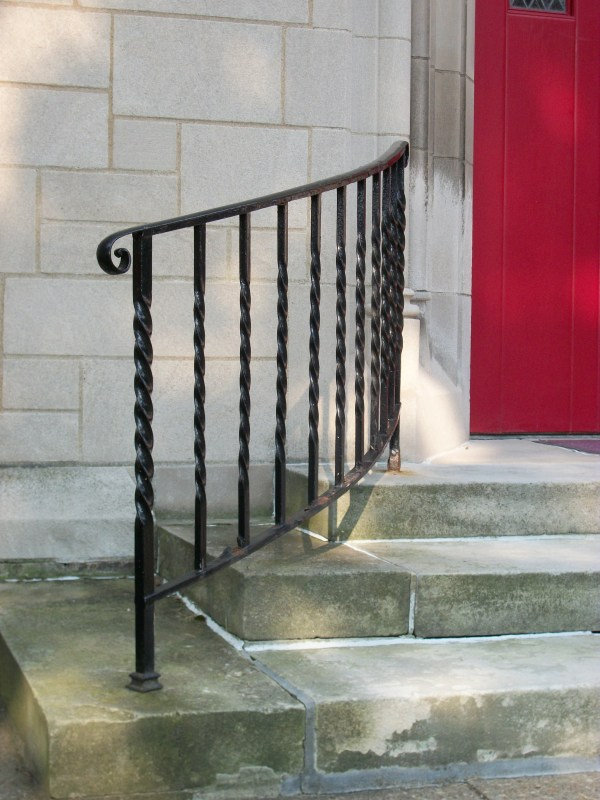 Front Porch Wrought Iron Railings for Steps