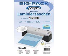Compra Laminiertaschen A4, 500 Stück im Big-Pack, 150 mic, Laminierfolien, Folientaschen, glänzend -
