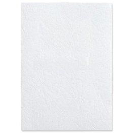 CY040070 Einbanddeckel für Bindegerät Ledergenarbt, Karton matt, 230 g/qm, weiß, 100 St. -