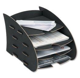 Fellowes 8010601 Earth Briefkorb, schwarz -