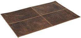 """Gusti Leder studio """"Marvin"""" Schreibtischunterlage Schreibunterlage Schreibtischschutz Schreibtischauflage Schreibblöcke Matte Mauspad Büffelleder Leder Groß 80 x 50 cm Braun Dunkelbraun 2A81-20-5 -"""