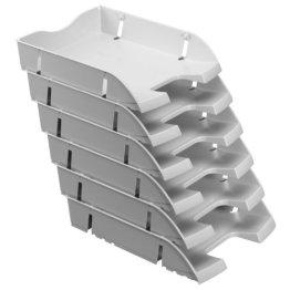 Herlitz 11247103 Ablagekorb A4-C4 space PET-Recylat (  6 Stück im Pack ) grau -
