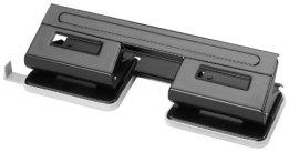 Herlitz 1610880 Doppel-Locher 1,5 schwarz mit Anschlagschiene -