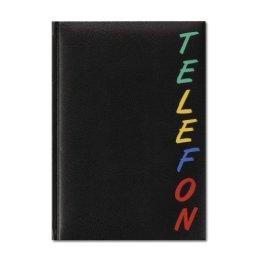 Herlitz 22376 Adressbuch A5 Rainbow, wattierter Einband, schwarz, mit 24-teiligem Register, A-Z Telefonbuch -