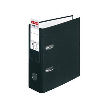 Herlitz Ordner + Ordner Register / DIN A5 / 80mm breit / Farbe: schwarz -