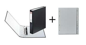 Herlitz Ringbuch + Ordner Register / DIN A5 mit 2-Ringe / Farbe: schwarz -
