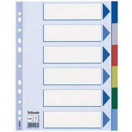 Leitz Plastikregister Blanko, A4, PP, 6 Blatt, farbig -