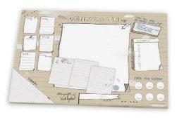 Schreibtischunterlage DENKZETTEL, aus Papier zum Abreißen, A3 (30 x 42 cm), 25 Blatt Schreibunterlage Abreißblock -