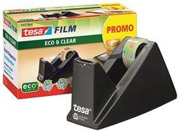 tesafilm Tischabroller ökologisch, schwarz, inkl. 1 Rolle tesafilm eco & clear -