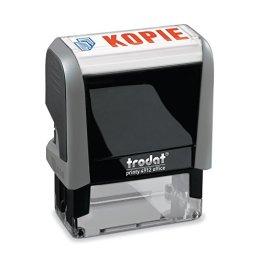 Trodat 4912Office Textstempel Printy 47x18 mm grau Kopie -