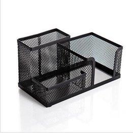 ULTNICE Schreibtischköcher Metall Stifteköcher Tisch-Organizer (Schwarz) -