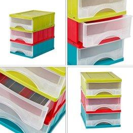 Universal Schubladebox DIN A5 Format Box Ablagebox 3 Laden Papierablage Magazin -