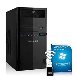 AGANDO Silent Allround & Multimedia PC   AMD A8-7650K 4x 3.3GHz   Turbo 3.8GHz   GeForce GT710 2GB   16GB RAM   1000GB HDD   DVD-RW   USB3.0   WLAN   Win7Pro   36 Monate Garantie   Computer für Multimedia, Gaming, Büro/Office -