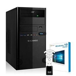 AGANDO Silent Multimedia PC   Intel Core i5 6500 4x 3.2GHz   Turbo 3.6GHz   Intel HD Grafik 1.7GB   8GB RAM   500GB HDD   DVD-RW   USB3.1   WLAN   Windows 10   36 Monate Garantie   Computer für Multimedia, Gaming, Büro/Office -