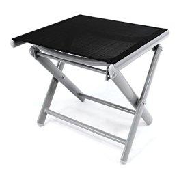 Alu Hocker klappbar Sitzhocker schwarz Klappstuhl Camping Terrasse Garten -