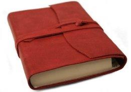 Amalfi Rot Handgefertigtes Italienisches Adressbuch aus Leder (9cm x 13cm) -