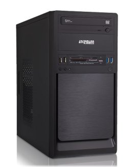 Ankermann-PC SSD Office Work Silent Multimadia PC, Intel Core i3-6100, 2x3.70GHz, MSI H110M ECO, onBoard Intel HD Graphics 530, 8GB DDR4 PC-2133, 240 GB SSD, be quiet! System Power B8 300W, -, Card Reader, EAN 4260219655903 -