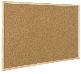 Bi-Office Korktafel / Pinnwand mit Holzrahmen- 5 Größen wählbar - 60 x 40 cm -