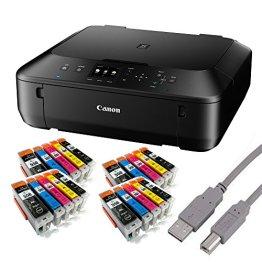 Canon Pixma MG5650 Tintenstrahl-Multifunktionsgerät (Kopierer, Scanner, Drucker, USB, WLAN) + USB Kabel & 20 Youprint Tintenpatronen (Originalpatronen ausdrücklich nicht im Lieferumfang) -