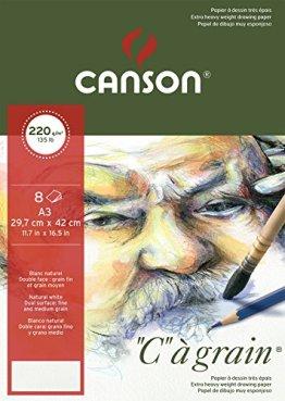Canson 400056378 C a grain Zeichenpapier, A3 -
