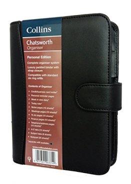 Collins Chatsworth Terminplaner, schwarz -