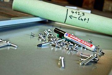 edding 4-3300-10 Permanentmarker 3300, nachfüllbar, 1 - 5 mm, sortiert, Arbeitsbox mit 10 Stück -
