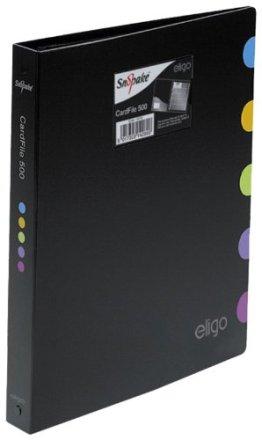 Eligo Executive Visitenkartenordner (25 Seiten, Kapazität für 500 Karten) -