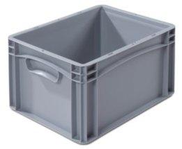 Euronorm-Behälter - LxB 400 x 300 mm, Wände und Boden geschlossen Höhe 220 mm - Box Euronorm-Stapelkasten Lagerkasten -