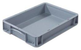 Euronorm-Behälter - LxB 400 x 300 mm, Wände und Boden geschlossen Höhe 70 mm - Box Euronorm-Stapelkasten Lagerkasten -