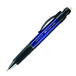 Faber-Castell 130732 - Druckbleistift GRIP PLUS, Minenstärke: 0,7 mm, Schaftfarbe: blau metallic -
