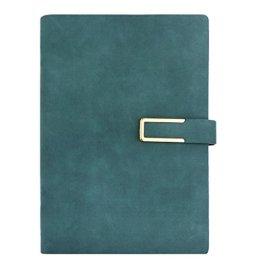 FakeFace Notizblock- DIN A5 Notizbuch Tagebuch Ringbuch aus Kunstleder Cover, 80 Blatt Skizzenbuch mit Lesezeichen Multifunktion Notizhefte für Büro und Schule/Dunkelblau -