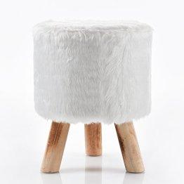 Fellhocker Hocker Sitzhocker 40 cm weiß C400 Schemel -
