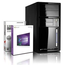 Flüster-PC AMD Quad-Core Office/Multimedia shinobee PC Computer mit 3 Jahren Garantie! inkl. Windows10 Professional - AMD Quad Core 4x1.50 GHz, 8GB RAM, 750GB HDD, AMD Radeon HD 8330, USB 3.0, HDMI, VGA, Office #4957 -
