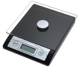 Genie 3623 EDS Digitale Briefwaage (von 1 g bis 5000 g, aus robustem Kunststoff inkl. Glasteller, LCD Anzeige) schwarz -