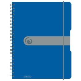 Herlitz 11293065 Spiralblock A4 to go, Holzfreies Papier, 80 Blatt, blau -