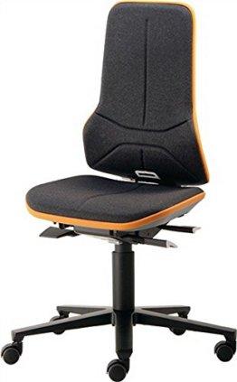 Interstuhl Arbeitsdrehstuhl Neon mit Rollen orange -