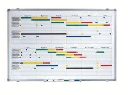 Jahresplaner - BxH 900 x 600 mm mit Halbjahres- und 365-Tage-Einteilung - Infotafel Magnettafel Magnetwand Planungstafel Präsentationstafel Schreibtafel Tafel Wandtafel Whiteboard -