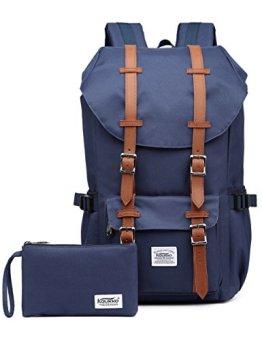 KAUKKO Marken Taschen Damen Herren Outdoor Wasserdicht Camping Wandern Trekking rucksack Blau -