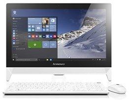 Lenovo C20-05 49,53 cm (19,5 Zoll Full HD) All-in-One Desktop-PC (AMD E1-6010, 1,35GHz, 4GB RAM, 500GB HDD, AMD Radeon R2, DVD-Brenner, Windows 8.1) weiß -