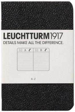Leuchtturm1917 325725 Adressbuch (X Mini, im Kreditkarten-Format) schwarz -